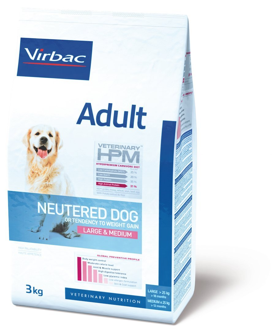 Virbac Veterinary HPM Adult Neutered Large & Medium Dog 12 kg