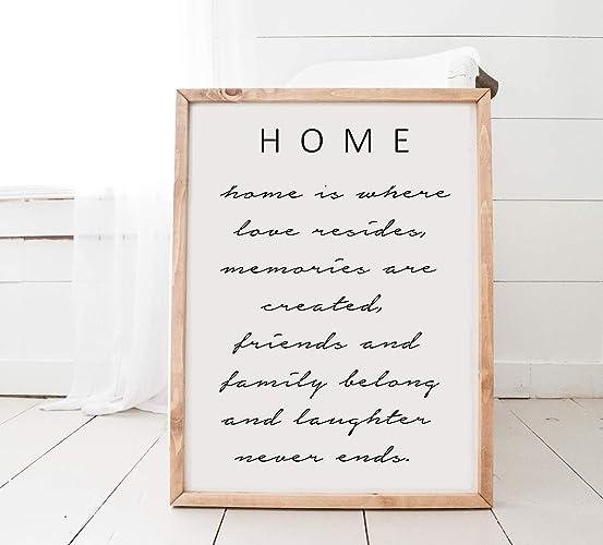 Amazon Com Home Decor Love Quotes Farmhouse Wood Signs