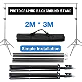 Volkwell Photo Backdrop Stand 2X 3m / 6.5X 9.8ft, Adjustable Portable Background Support System Kit with Carry Bag, for…