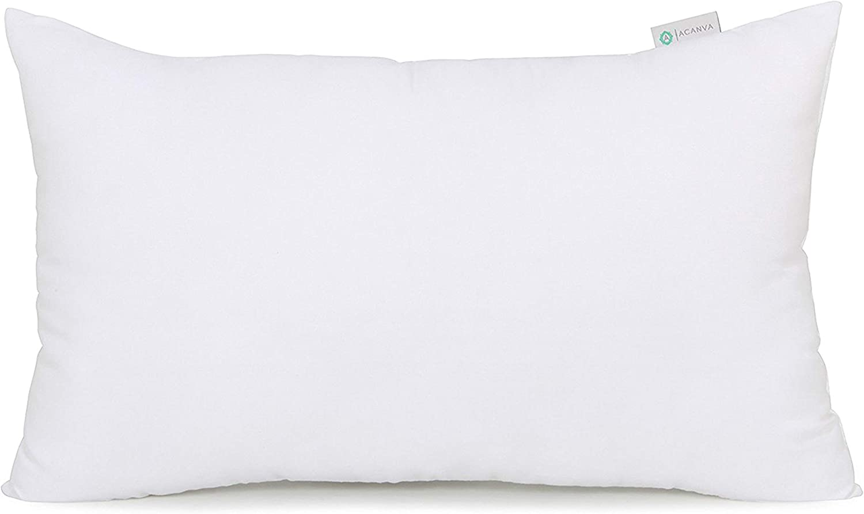 Acanva Hypoallergenic Pillow Insert Form Oblong Rectangle Cushion Sham 12 X 24 White Amazon Ca Home Kitchen