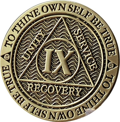 Recoverychip 9 Year AA Medallion Reflex Antique Chocolate Bronze Chip -