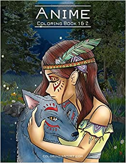 Amazon.com: Anime Coloring Book 1 & 2 (9781537160573): Nick Snels: Books