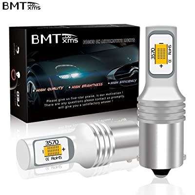 BMTxms 2pcs 1156 BA15S 7056 P21W LED Bulbs, Golden Yellow Light Turn Signal Bulb 1300 Lumens Super Bright LED Turn Signal Blinker LED Bulb DC 12V-24V: Automotive