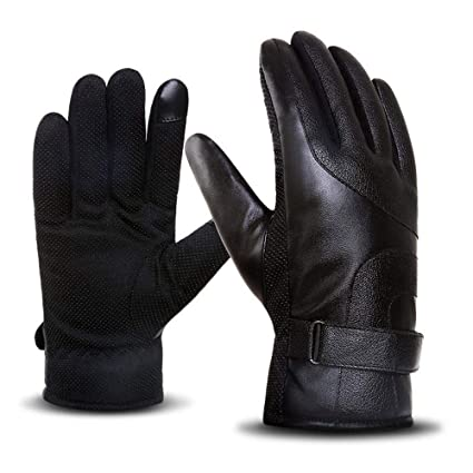 Heitaisi Unisex Touch Screen Gloves Non-Slip Waterproof Winter Thermal Outdoor Windproof Warm Glove Lined Thick Cold Weather Full Finger Gloves for Texting Cycling Running Driving Riding