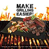 Flamen 2 Pack Heavy Duty Non-Stick BBQ Grill Mat Reusable Durable and Creates Grill Marks Set of 2 PROMO*)