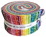 Kim Schafer Pick Up Sticks Double Scoop 2.5'' Precut Cotton Fabric Quilting Strips Assortment Jelly Roll Andover Fabrics