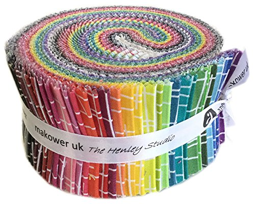 Kim Schafer Pick Up Sticks Double Scoop 2.5'' Precut Cotton Fabric Quilting Strips Assortment Jelly Roll Andover Fabrics by Andover Fabrics