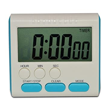 Compra LUFA Digital Time magnético LCD grande digital cocina temporizador alarma contar hasta y abajo reloj 24 horas en Amazon.es