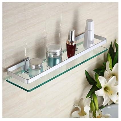 Mensole Di Vetro Per Bagno.Hblife Contenitore Cosmetici Per Il Bagno Con Mensole In Vetro E