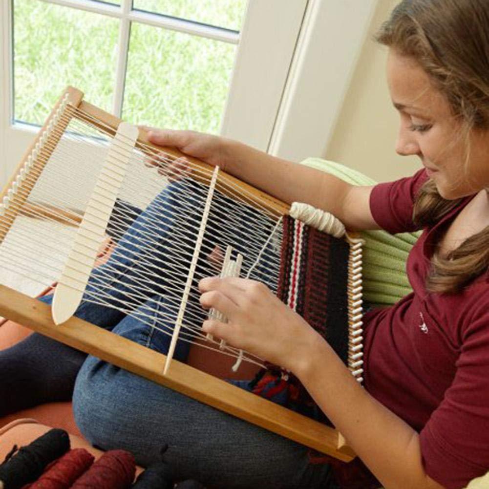 Keruite Elm Wooden Weaving Loom Kit,Multi-Craft Hand-Knitted Machine,DIY Lap Loom