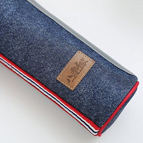 cda885ae8e72 Baling Denim Blue Washable Cylinder Cooler Bag Insulated Lunch Bag ...
