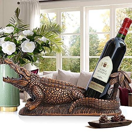 KMYX Creatividad Personalidad Resina Vinoteca Resina Gabinete de Vino Adornos Artesanales Decorativos Sala de Estar de Escritorio Gabinete de TV Gabinete de Vino Soportes de Exhibición de Bodega