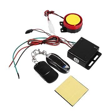 Sistema de alarma de seguridad antirrobo para motocicletas universales de 12 V con doble control remoto
