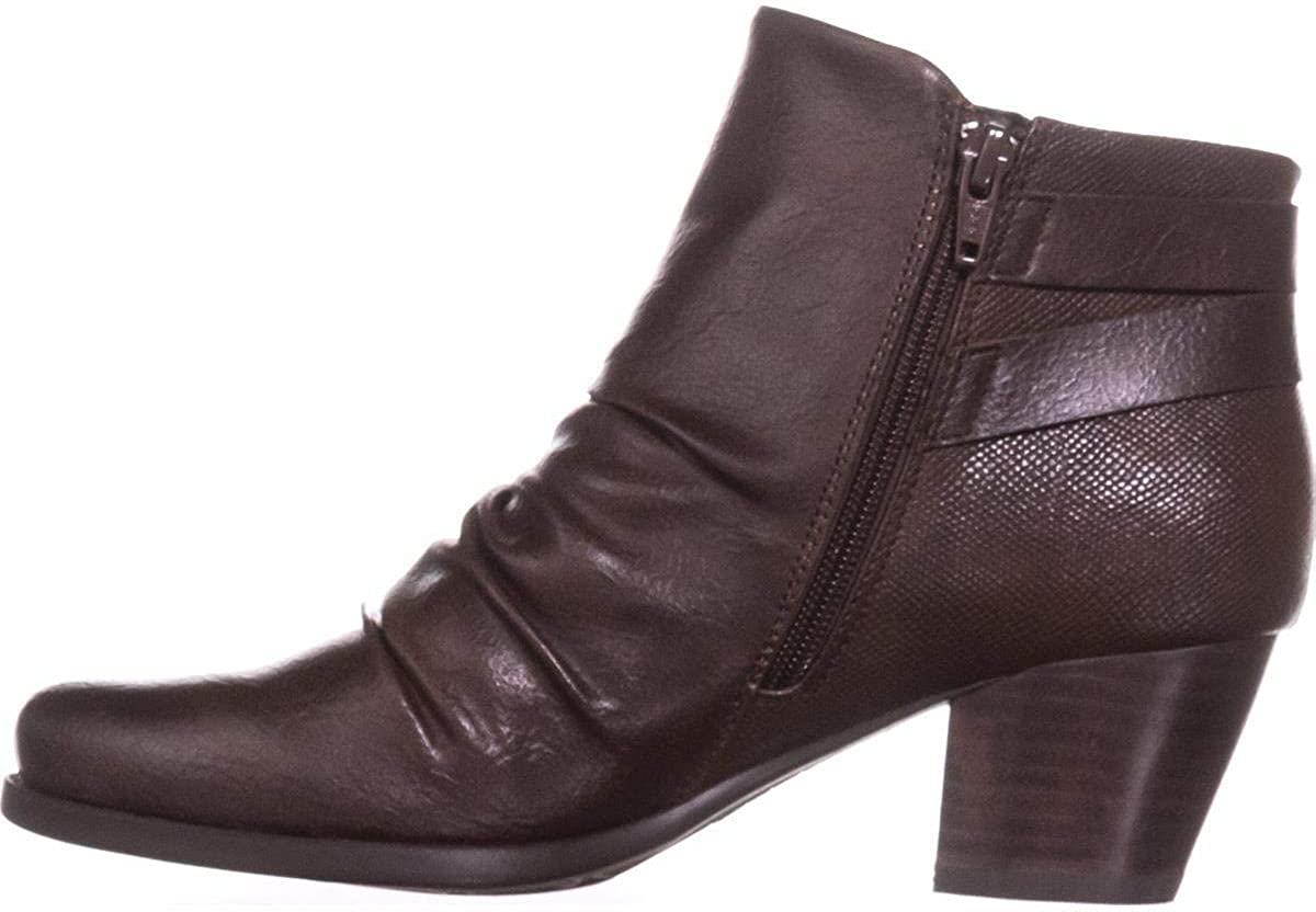 BareTraps Womens Reliance Faux Leather Ankle Booties