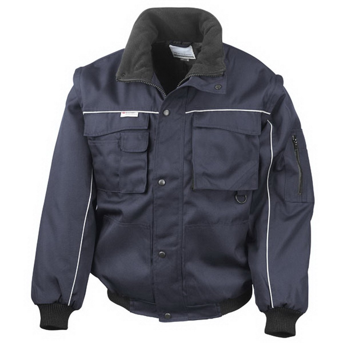 Funny Pilots Jacket by Result (Colour: Navy Blue/Navy/Blue) (Jacket Size: M)