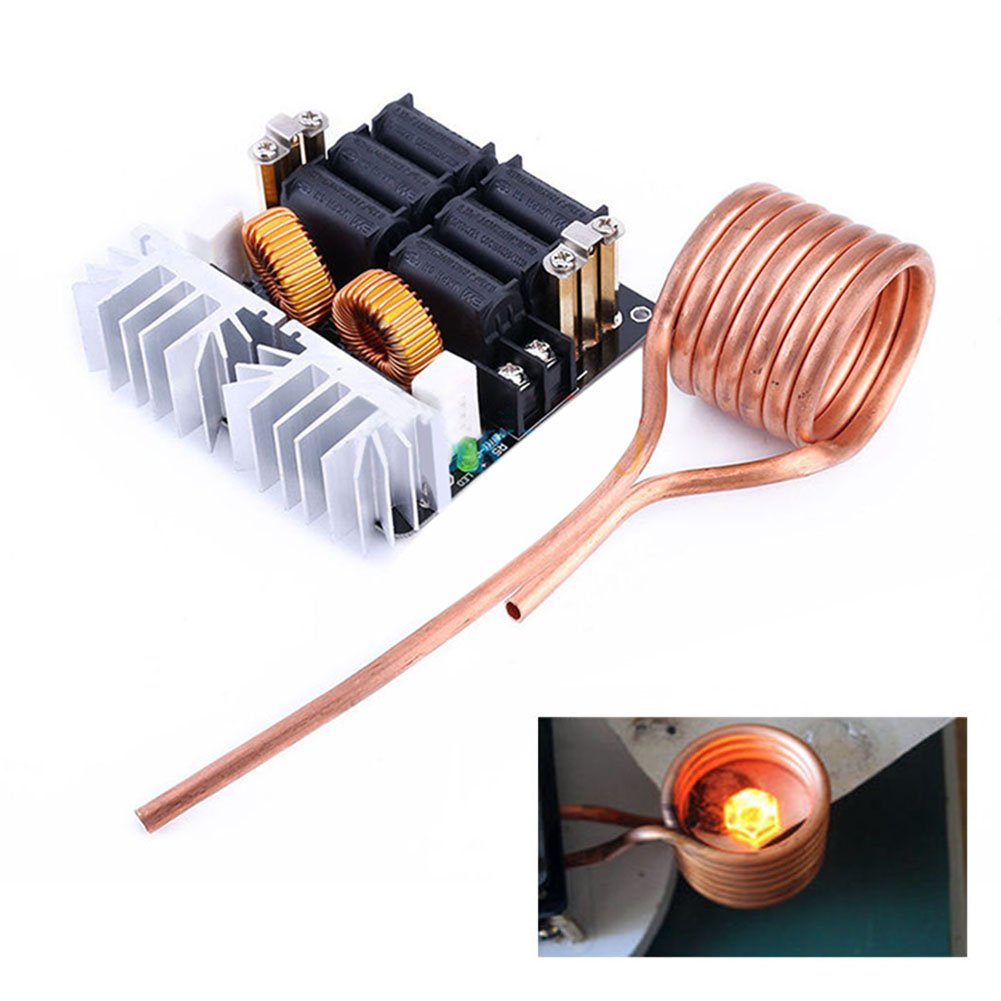 Northbear DIY ZVS Low Voltage Induction Heating Board Module 12-48V Flyback Driver Heater 1000W + Brass Coil