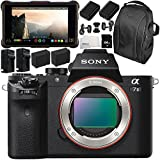 Sony Alpha a7 II Mirrorless Digital Camera with Atomos Ninja Inferno 7 4K HDMI Recording Monitor 10PC Accessory Bundle – Includes Deluxe Backpack + MORE