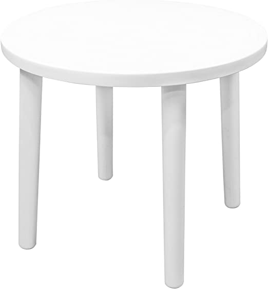 Resol Tossa Table de jardin ronde en plastique Blanc ...