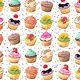Entertaining with Caspari Gift Wrapping Paper, Cupcakes, 2-Sheets, Health Care Stuffs