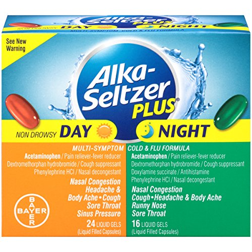 Alka-Seltzer Plus Day/Night Cold and Flu Liquid Gels, 40 - Plus Seltzer Alka Cold