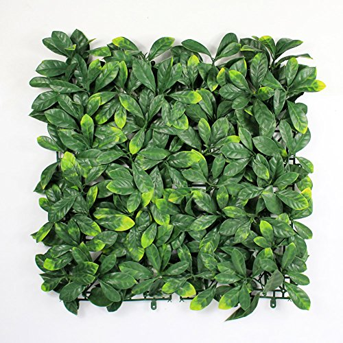 Artificial Boxwood Topiary Hedge Plant Sound Diffuser Privacy Fence Screen Greenery Wall Covers 16 SQ feet 12 Panels 20''x 20'' Suitable for Both Outdoor or Indoor, Garden, Backyard and Home (11 Panel Wall)