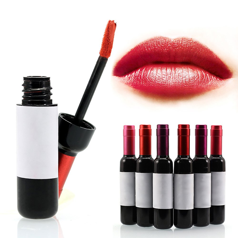 Vinmax 6 Colors Wine Lip Stain, Liquid Lipstick, Lip Tint, Waterproof 6pcs/kit