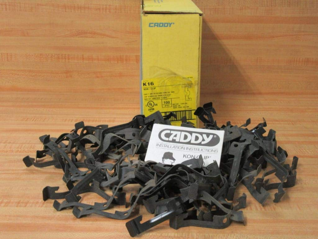 Erico Caddy K16 Kon-Clip Cable Conduit Hanger to Flange//Wire//Rod 100-Pack