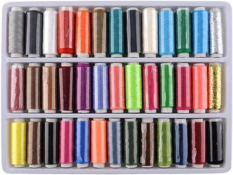 Juego de hilo de coser, surtido de hilos de costura, juego de caja ...
