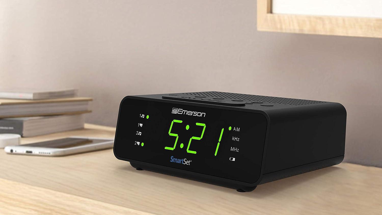 Amazon.com: Emerson SmartSet - Reloj despertador con radio ...