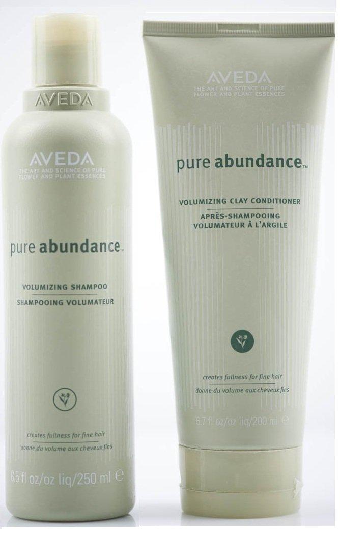 Aveda Pure Abundance Volumizing Shampoo 8.5 oz & Clay Conditioner 6.7 DUO by AVEDA