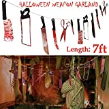 Pawliss Halloween Scary Bloody Splattered 12 Weapons Knife...