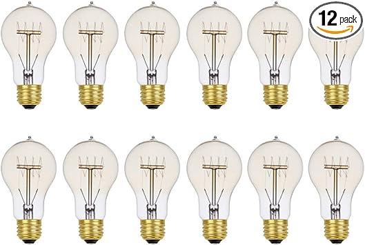 6 Pack Lighting Science Tubular T10 Filament Bulb Vintage Style Amber Edison Led Light Bulb Dimmable 12 Long 40W Equivalent 120V E26 Medium Base