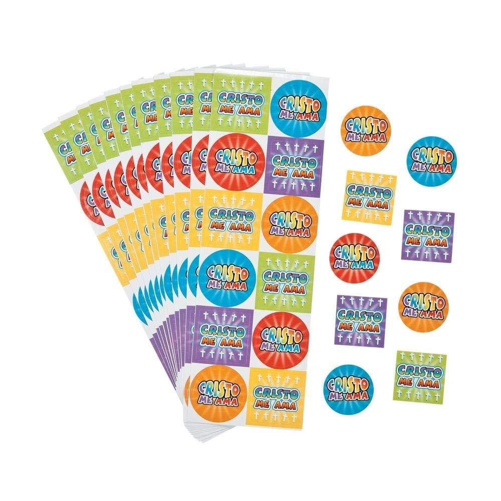 Spanish Jesus Loves Me Stickers Fun Express 36//2704