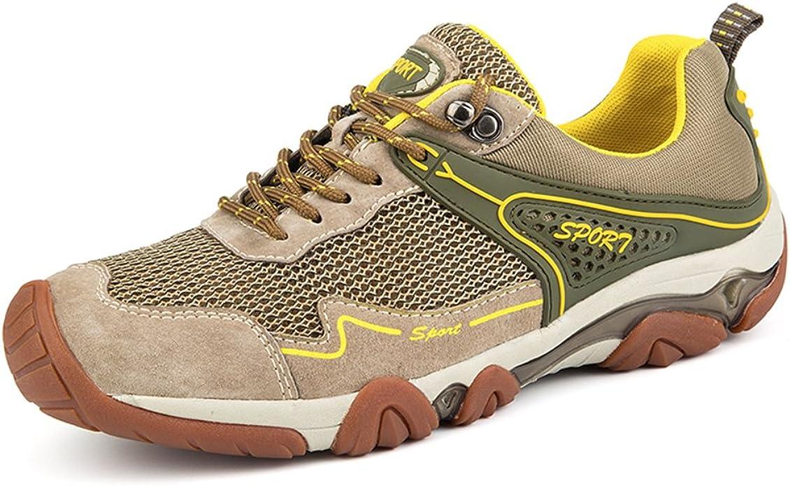 UBFen Hombre Zapatillas de Senderismo Deportivas Aire Libre y Deportes Montaña y Asfalto Zapatos para Correr Running Malla Transpirable Casuales Marrón Azul UE 41 B Marrón: Amazon.es: Zapatos y complementos