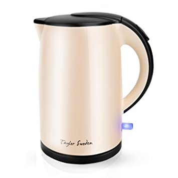 Taylor Swoden Rose 900022 – Hervidor de agua de toque frío, doble pared exterior para