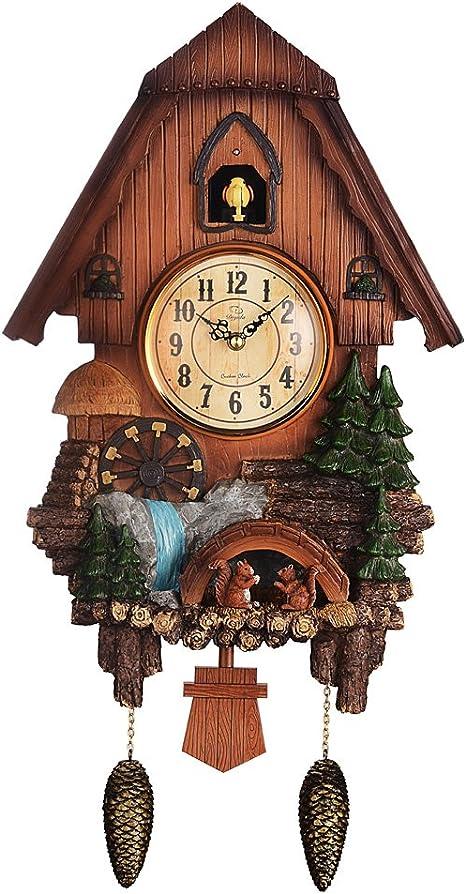 Pq Vivid Reloj De Cuco Grande Reloj De Cuco De Pared Timbre Tiene Apagado Automático Cocina Y Casa 1 Home Kitchen