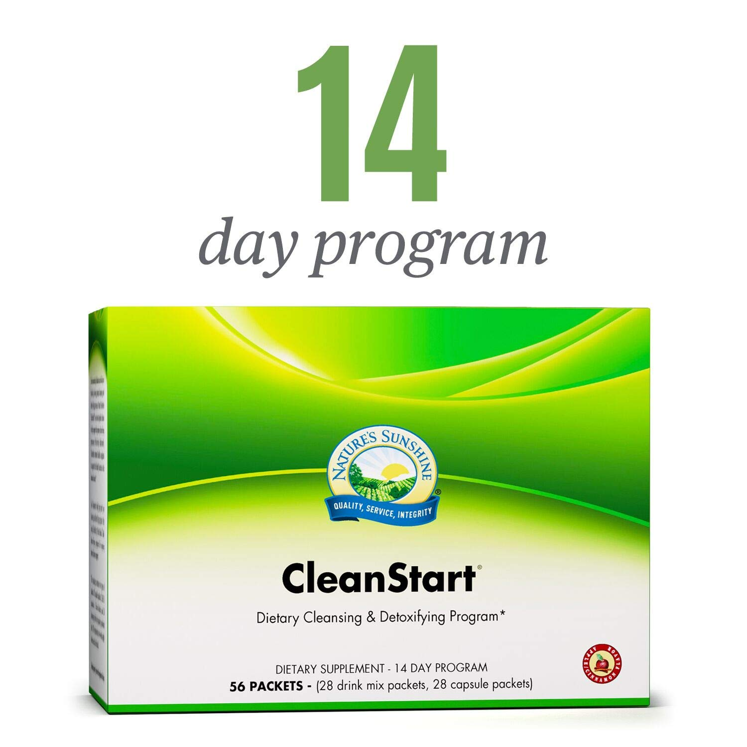 Nature s Sunshine CleanStart, Apple Cinnamon 14 Day Full Body Detox Supports Increased Energy, Weight Loss, and Detox