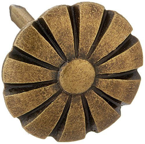 Dritz Home 9013 Daisy Decorative Nails, 7/16-Inch, Antique Brass (24-Piece)