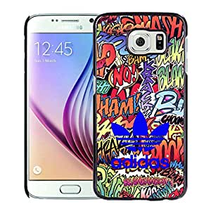 Fashionable And Durable Custom Designed Cover Case For Samsung Galaxy S6 With Adidas 18 Black Phone Case