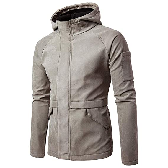 Resplend Camisa con Capucha sólida con Capucha y Mangas largas en otoño de Invierno de los
