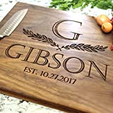 Engraved Name Personalized Cutting Board Wedding Gift for Couples Deal (Small Image)