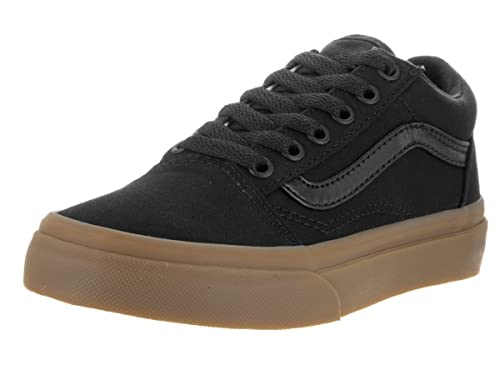 Amazon.com  Vans Kids Old Skool (Canvas Gum) Black Lghtgm Skate Shoe ... 980c5f124abf