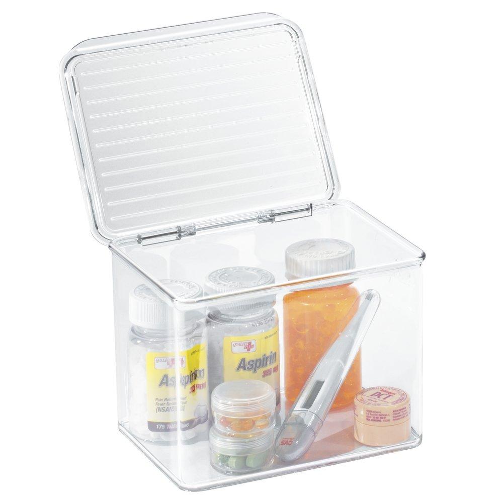 Superbe Amazon.com: MDesign Storage Box Organizer For Vitamins, Medicine, Medical,  Dental Supplies   Hinged Lid, Small, Clear: Home U0026 Kitchen