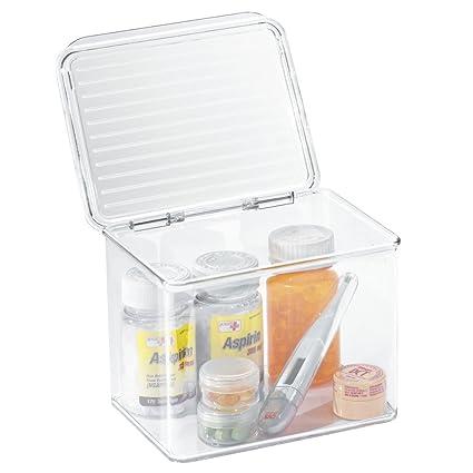 Superieur MDesign Storage Box Organizer For Vitamins, Medicine, Medical, Dental  Supplies   Hinged Lid