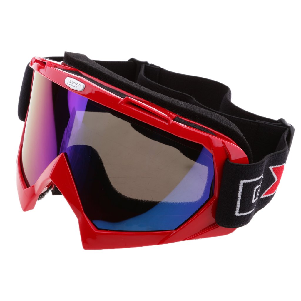Dovewill Motorcycle Dirt Bike Riding Glasses Outdoor Sports Eyewear Windproof Dustproof Anti-UV Anti-Fog for Motocross Skiing Ski Snowboarding - Red