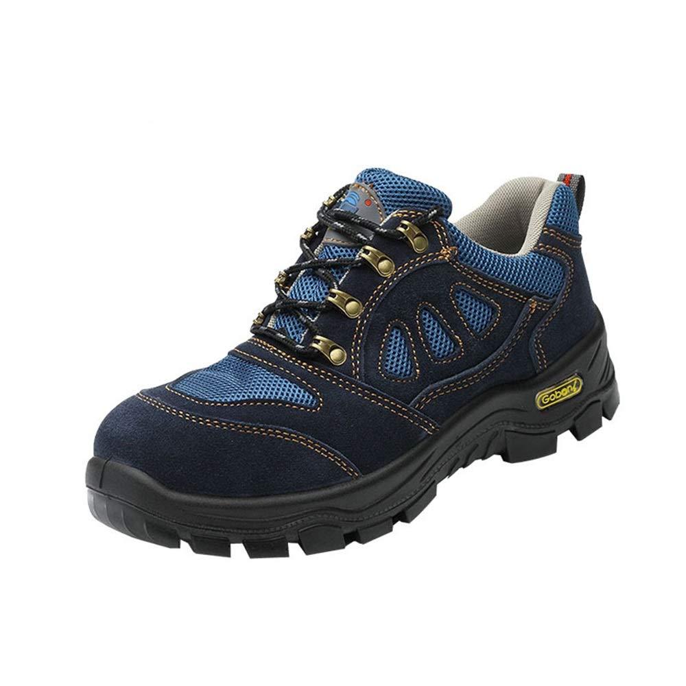 Qiusa Breathable leichte Sicherheitsschuhe der der Sicherheitsschuhe Männer durchbohren Besteändige protecetive Mittelsohle-Schuhe (Farbe   Blau Größe   EU 42) 74d8e7