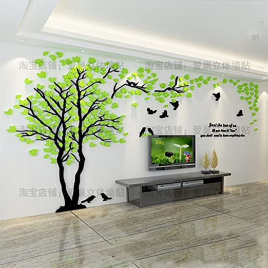 Creative Baum 3d Stereo Wandtattoo Wohnzimmer Sofa Tv Hintergrund Wand Aufkleber Home Interior Dekoration S Amazon De Kuche Haushalt