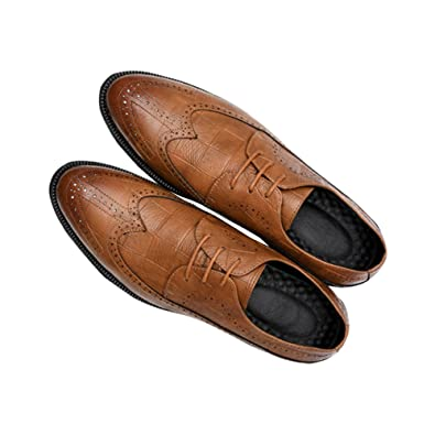 Men's Classic British Style Leather Oxford Flats Shoes Large Size