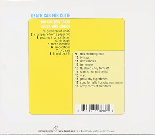 Death Cab For Cutie You Can Play These Songs With Chords Amazon