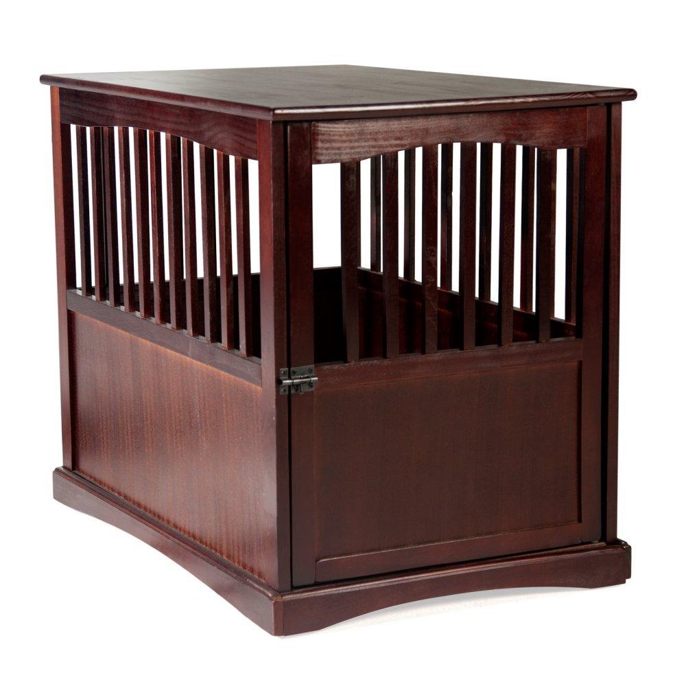 Newport Pet Crate End Table (24'' H, Espresso)